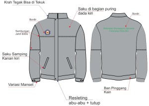 Jaket Bordir Drill Universitas Halu Oleo