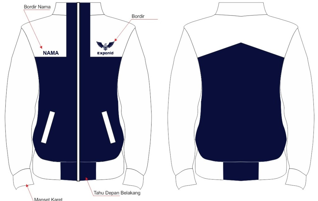 8300 Desain Jaket Polos Depan Belakang Gratis Terbaik