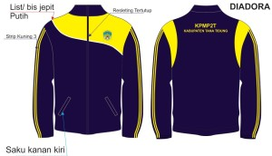 Jaket Kain Drill Bolak balik KPMP2T