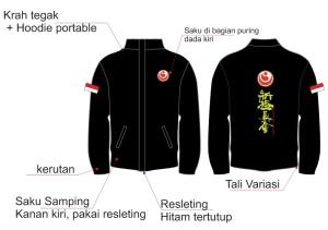 Jaket Bordir Taslan Karate