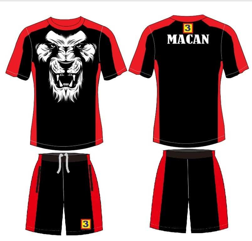 Desain Baju olahraga MACAN